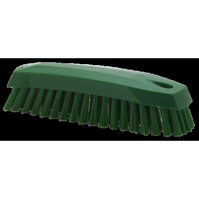 Щетка ручная скребковая, 165 мм, средний ворс, зеленый цвет