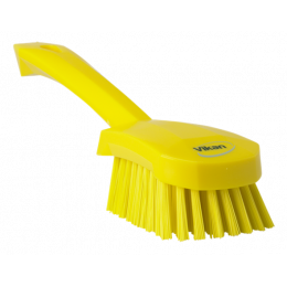 Щетка для мытья с короткой ручкой, 270 мм, Жесткий ворс, желтый цвет