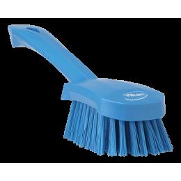 Щетка для мытья с короткой ручкой, 270 мм, Жесткий, синий цвет