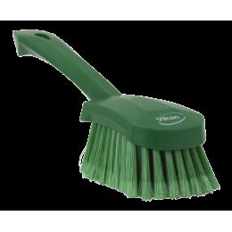 Щетка для мытья с короткой ручкой, 270 мм, Мягкий/расщепленный ворс, зеленый цвет