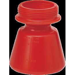 Бачок запасной, 1,4 л, красный цвет