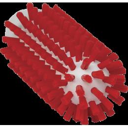 Щетка-ерш для очистки труб, гибкая ручка, диаметр 50 мм, Жесткий ворс, красный цвет