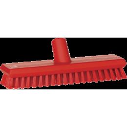 Щетка скребковая поломойная с подачей воды, 270 мм, Очень жесткий, красный цвет