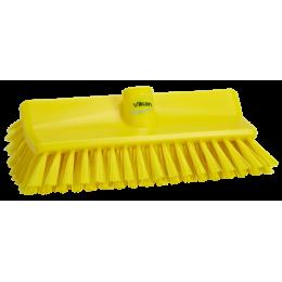 Щетка с изогнутой под углом колодкой, 265 мм, средний ворс, желтый цвет