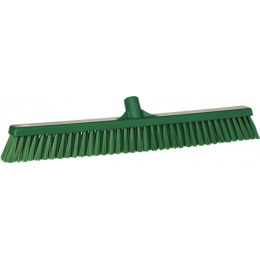 Щетка для подметания с комбинированным ворсом, 610 мм, Мягкий/жесткий ворс, зеленый цвет
