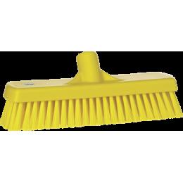 Щетка для мытья полов и стен, 305 мм, Жесткий ворс, желтый цвет