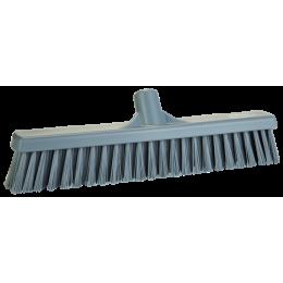 Щетка для подметания с комбинированным ворсом, 410 мм, Мягкий/жесткий, серый цвет