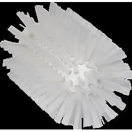 Щетка-ерш для очистки труб, гибкая ручка, диаметр 77 мм, средний ворс, белый цвет