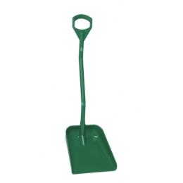 Эргономичная большая лопата с короткой ручкой, 380 x 340 x 90 мм., 1140 мм, зеленый цвет